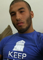Latino stud Diego wanking off his dick
